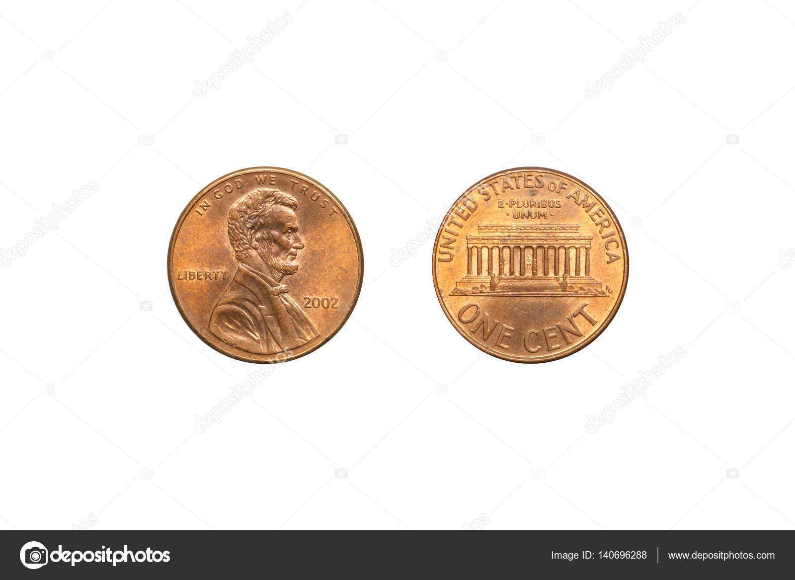 Vorder Und Rückseite Usa Münze 1 Cent Stockfoto Stigmatize