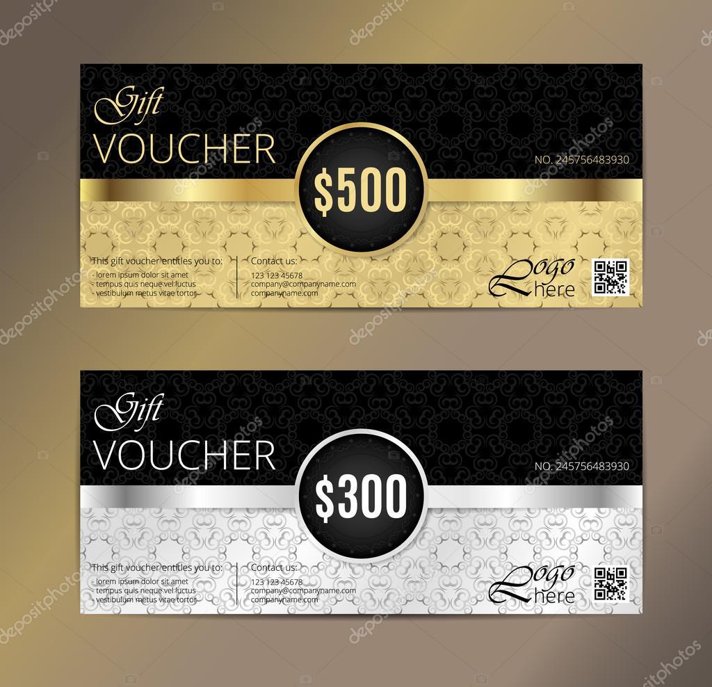 Gold Vip Club Card Gutschein oder Geschenkgutschein Vorlage ...