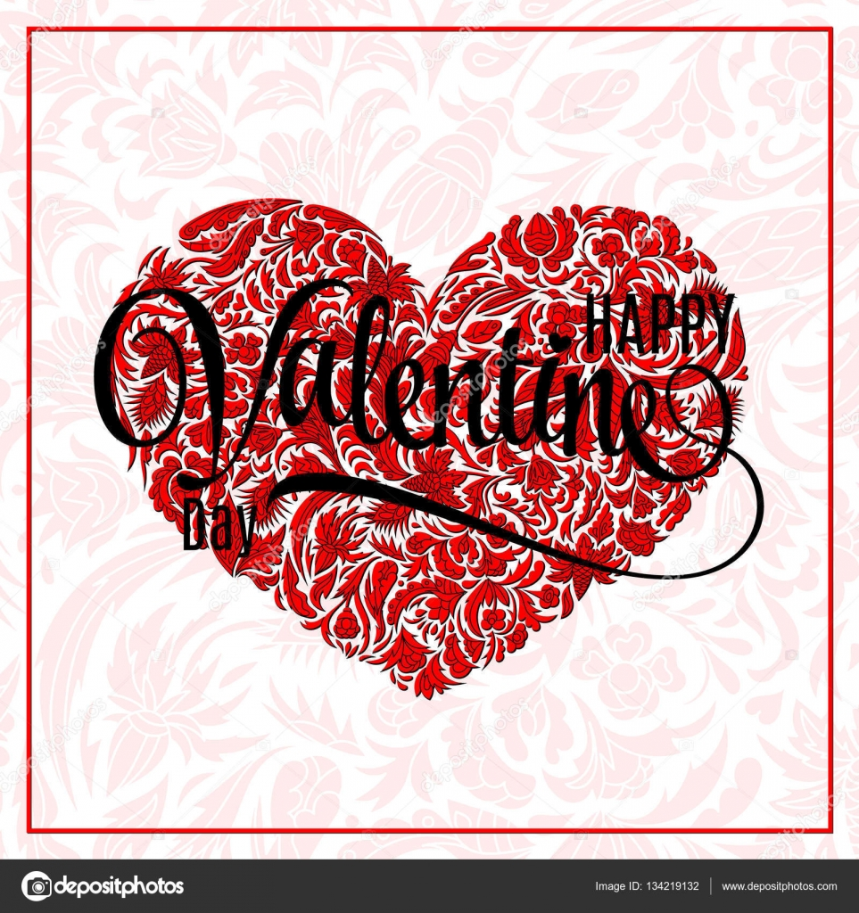 Valentine Heart Doodle Pattern Vector Hand Drawn Artwork