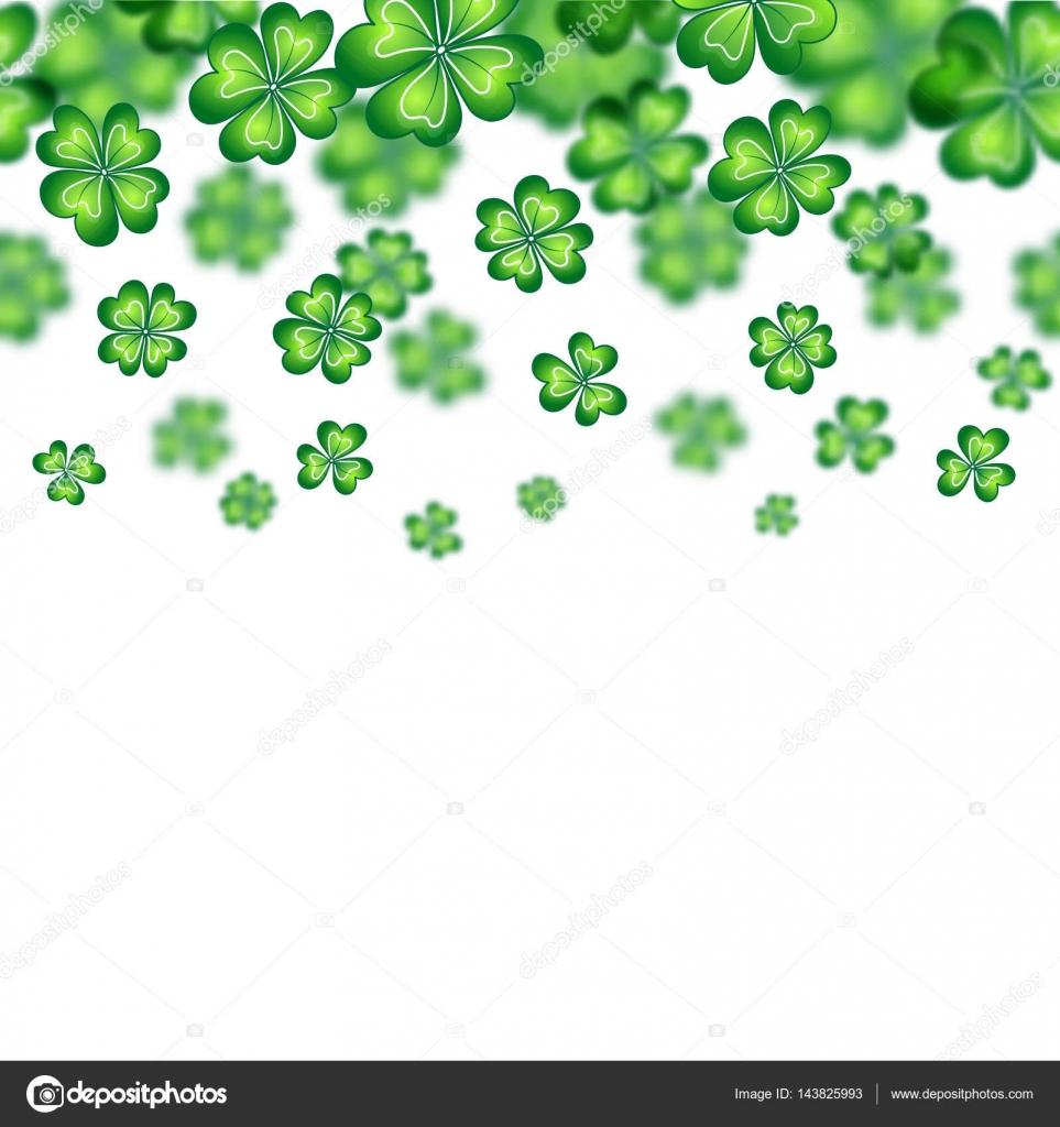 Saint Patricks Day Border Vector Illustration Irish Symbols Of The