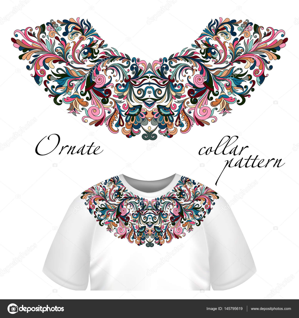 Dibujos Etnicos Para Camisetas Vector Diseno De Collar De