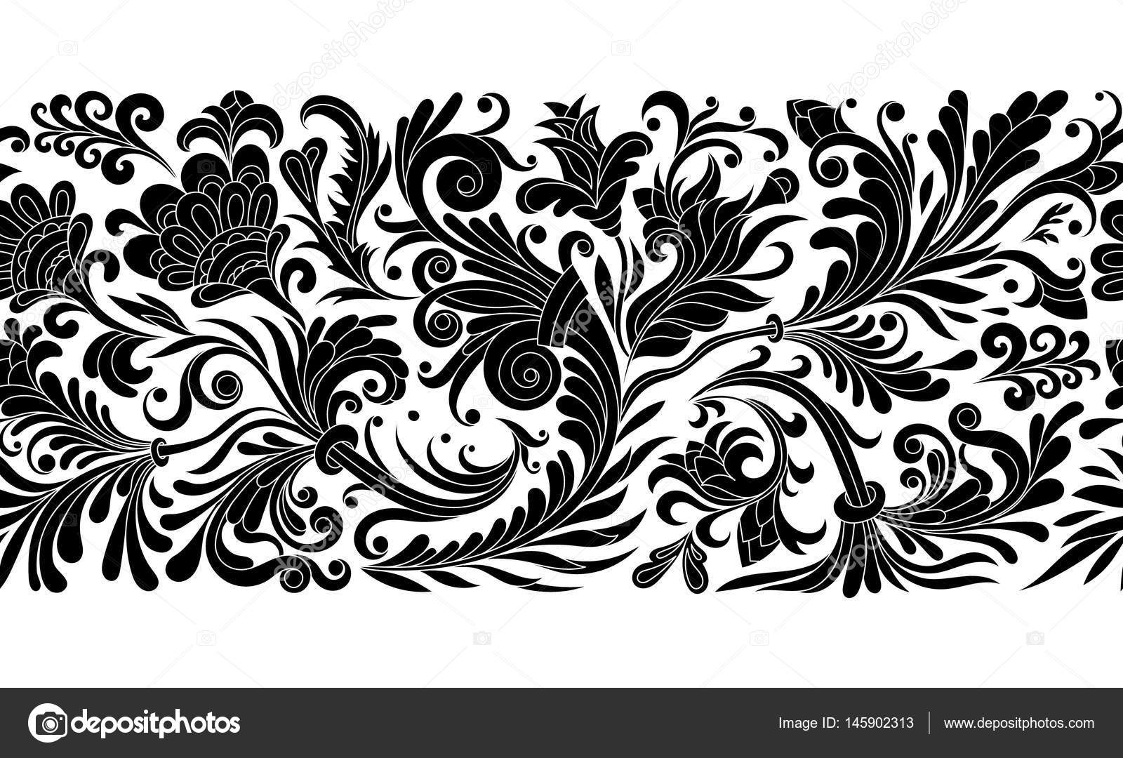 Floral Seamless Border Free Download Vector