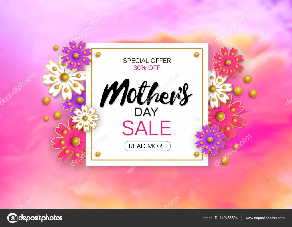 Mothers day sale background layout with beautiful colorful flower mothers day sale background layout with beautiful colorful flower for banners wallpaper flyers invitation posters brochure voucher discount izmirmasajfo