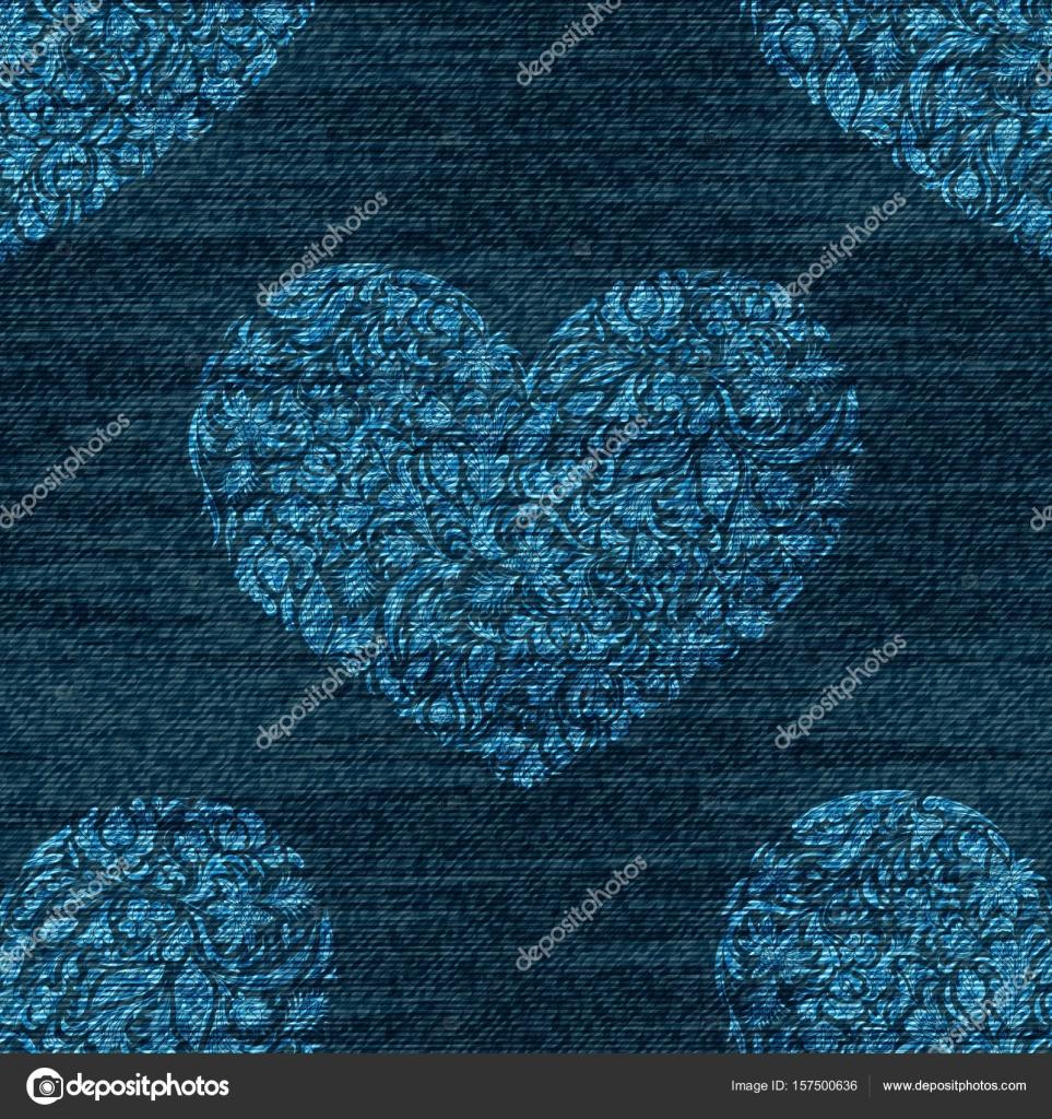 Vector del dril de algodón romántico de patrones sin fisuras. Fondo ...