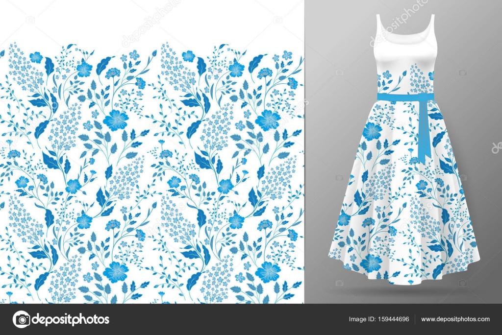 Bloem borduurwerk op de jurk mock up. mode decoratie patch