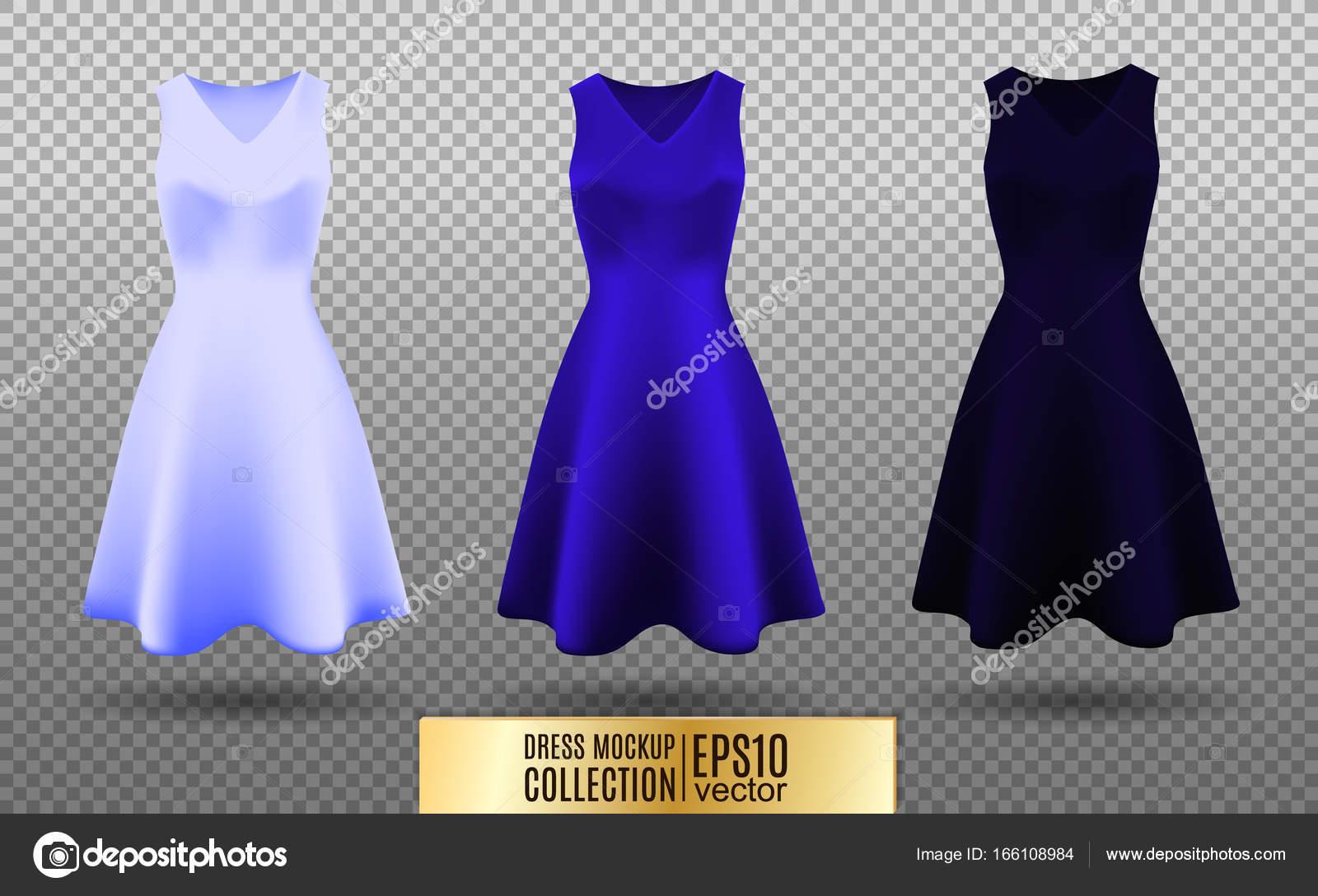 Las mujeres vestido colección de maquetas. Vestido con falda larga ...