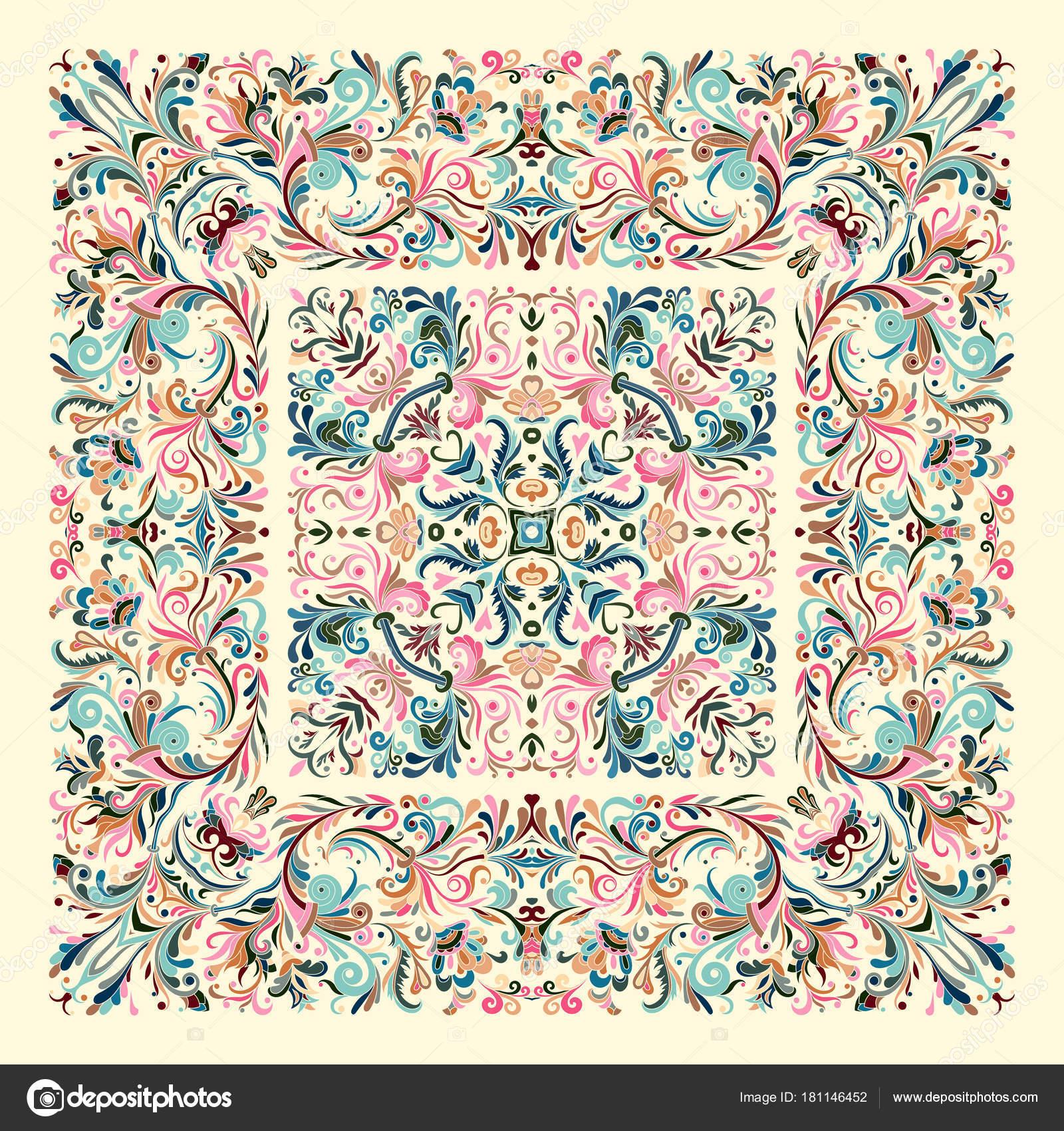 site autorisé choisir véritable Site officiel Décoration fond coloré, motif géométrique doodle floral avec ...