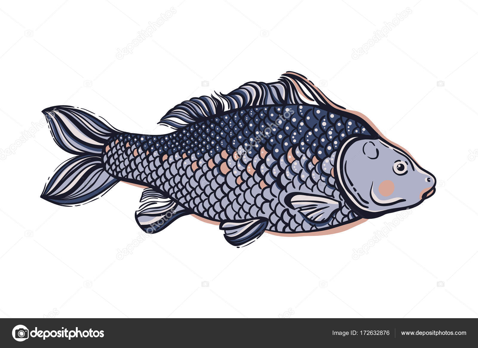 Carp chinese symbol of good luck courage persistence chinese symbol of good luck courage persistence perseverance wisdom and biocorpaavc Image collections
