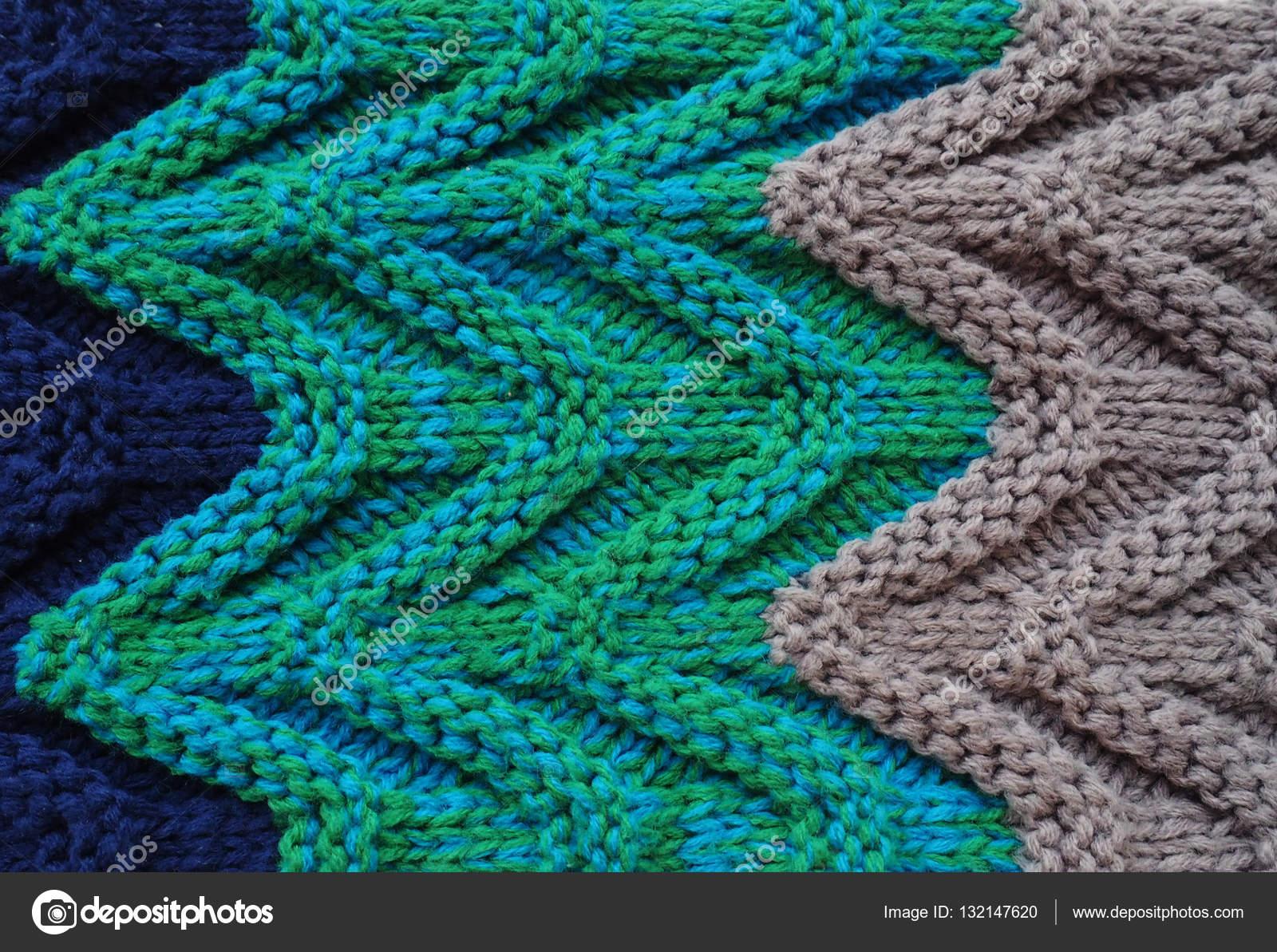 Jersey o bufanda textura grande hacer punto. Fondo de punto de ...