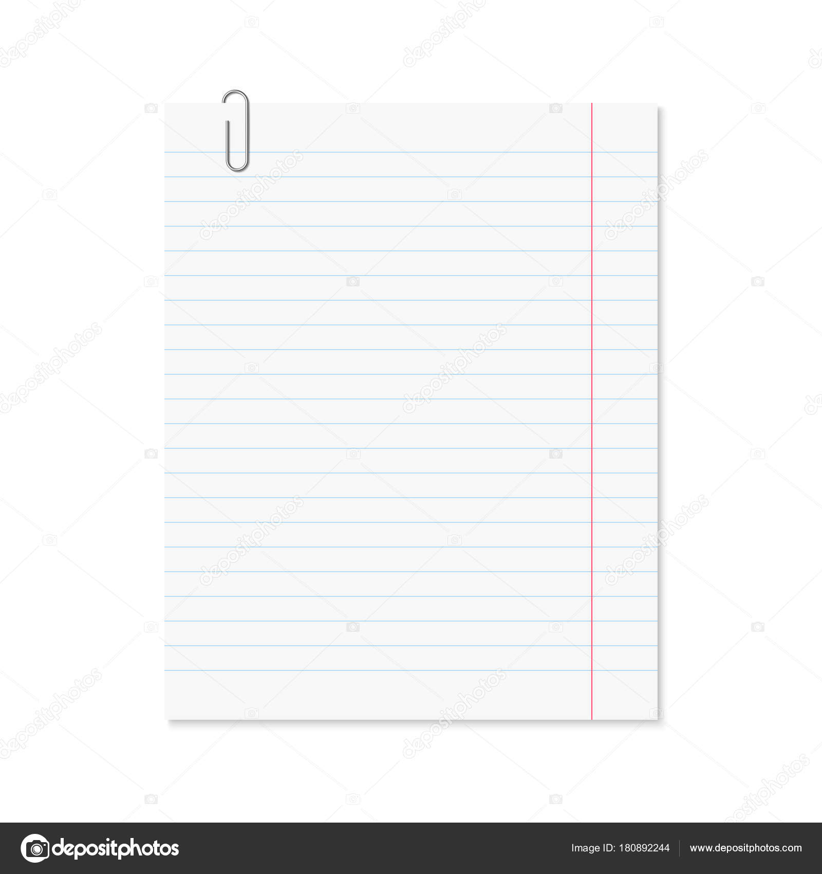 photograph regarding Red and Blue Lined Handwriting Paper Printable titled Vector affordable paper sheet blue included Inventory Vector
