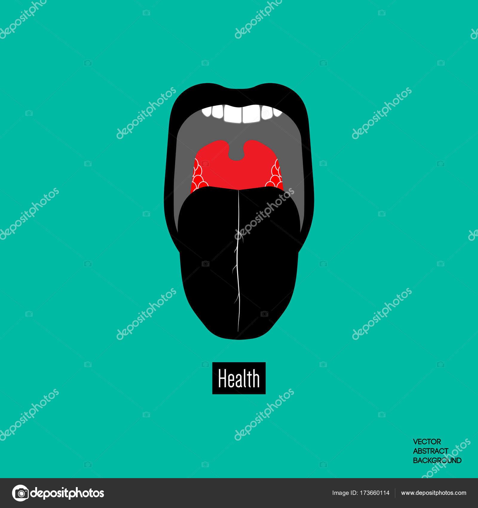 Garganta humana. Abrir la boca. Lengua en la boca — Archivo Imágenes ...