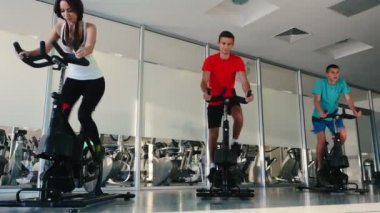 people training on Cardio Bike