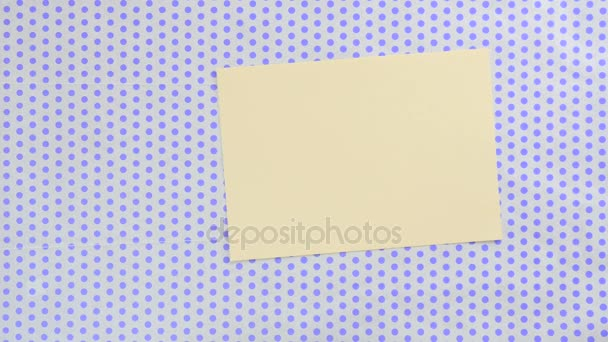 yellow piece of paper