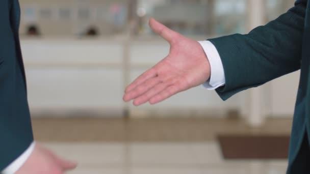 close-up of businessmen handshaking