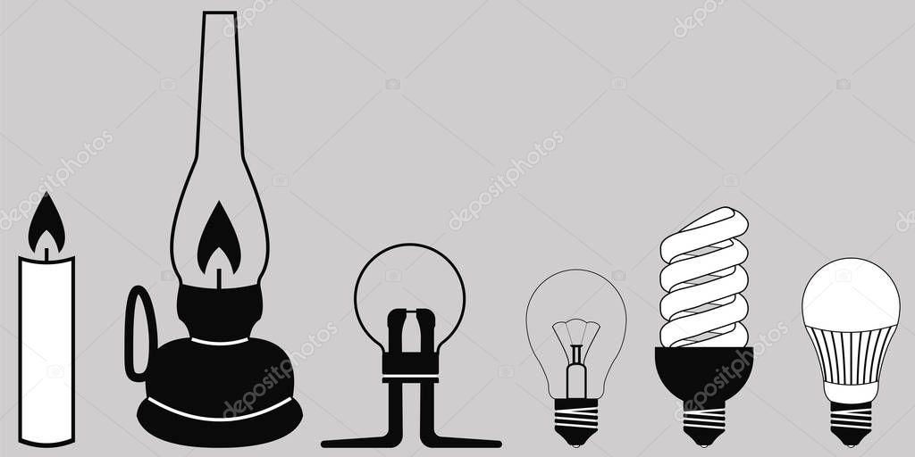 Evolution lighting l& u2014 Stock Vector #129988576 & Evolution lighting lamp u2014 Stock Vector © koksikoks #129988576 azcodes.com