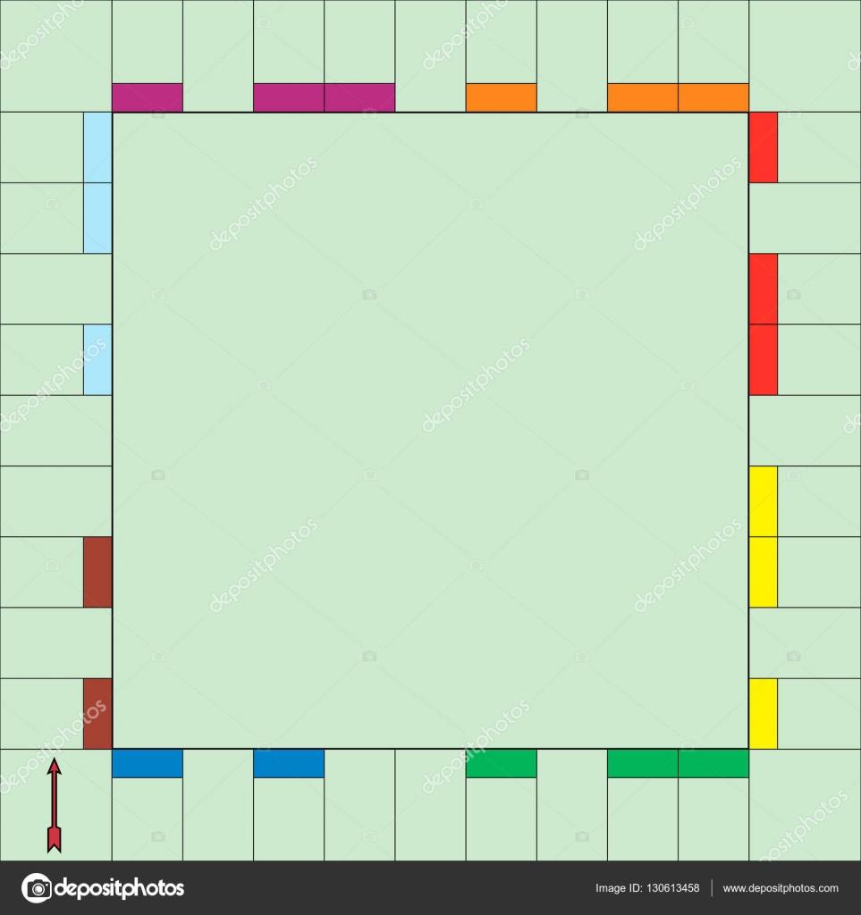 Vorlage Spiel Monopoly — Stockvektor © koksikoks #130613458