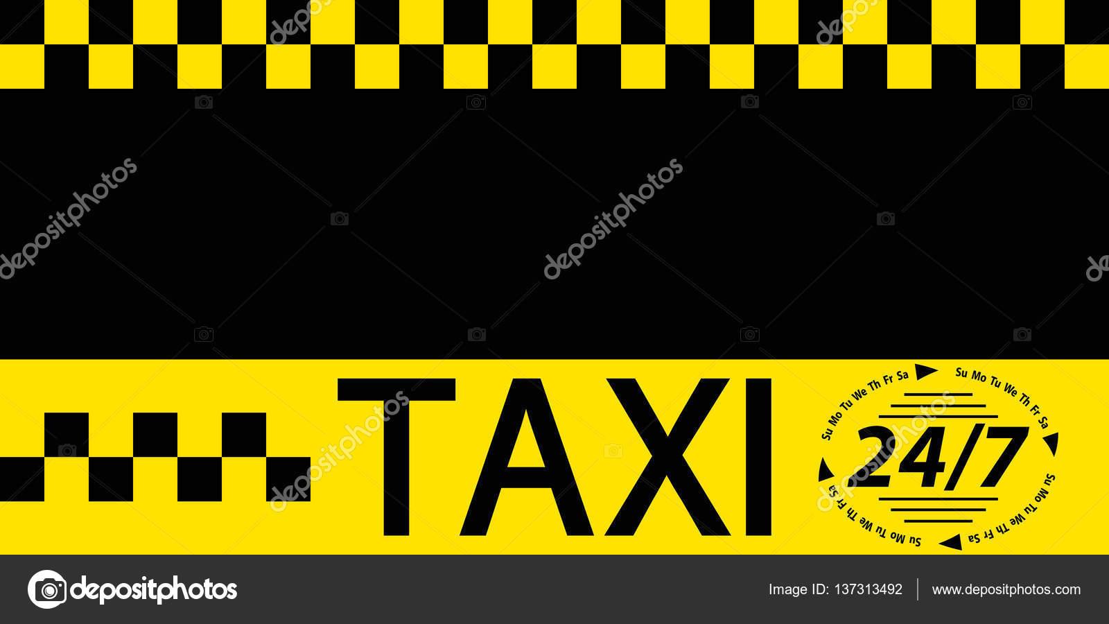 Business card taxi banner — Stock Vector © koksikoks #137313492
