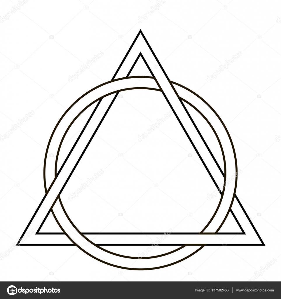 Círculo De La Armadura Del Tatuaje De Triángulo Archivo Imágenes