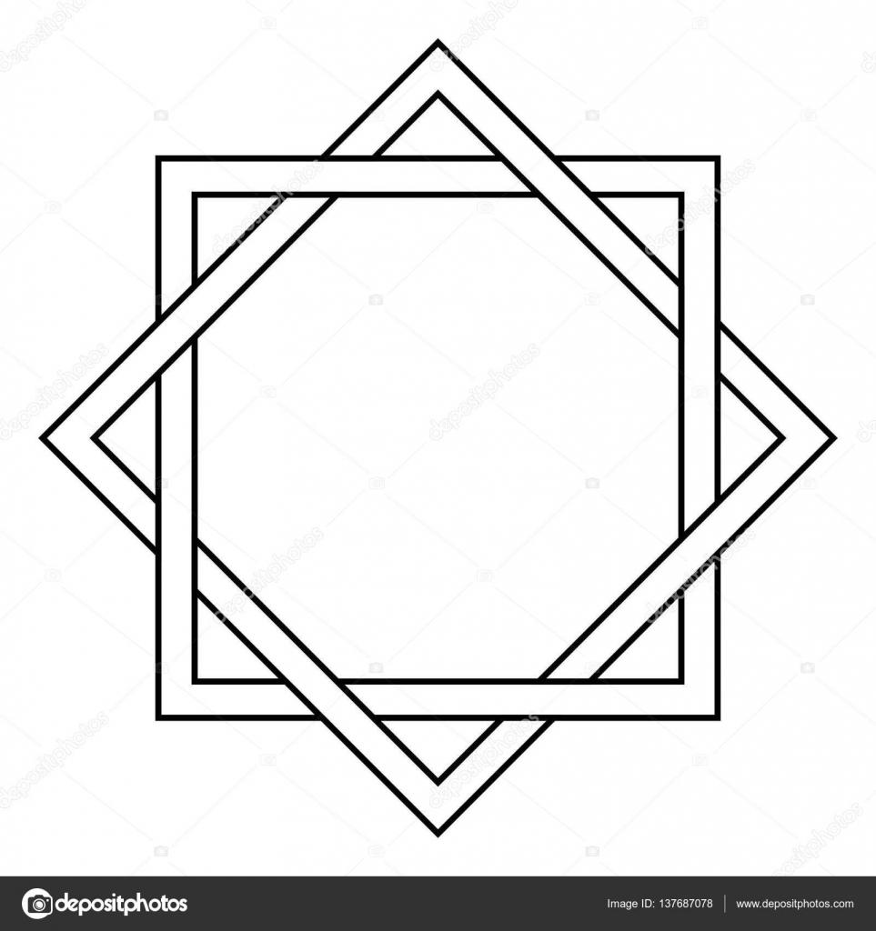 Blokujące Kwadrat I Tatuaż Diament Grafika Wektorowa Koksikoks