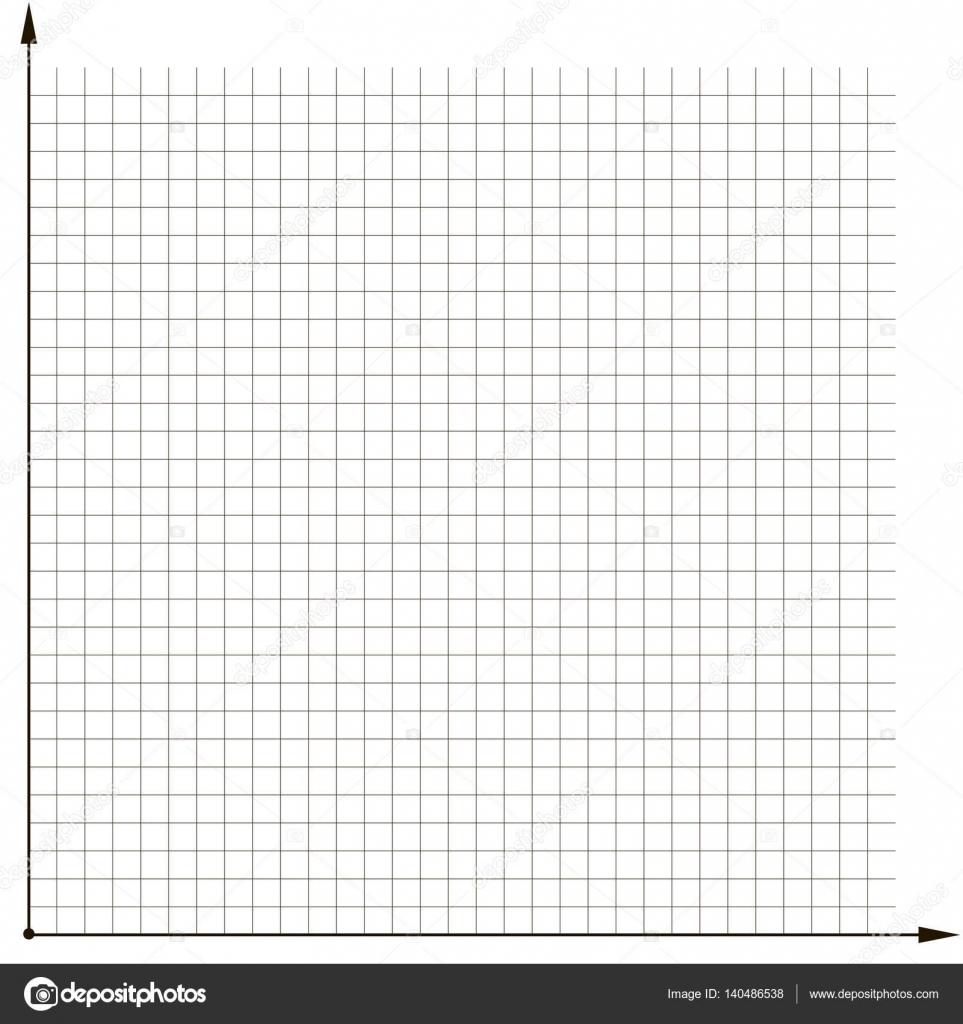 Koordinatengitter Vorlage Chart Diagramm analysieren — Stockvektor ...