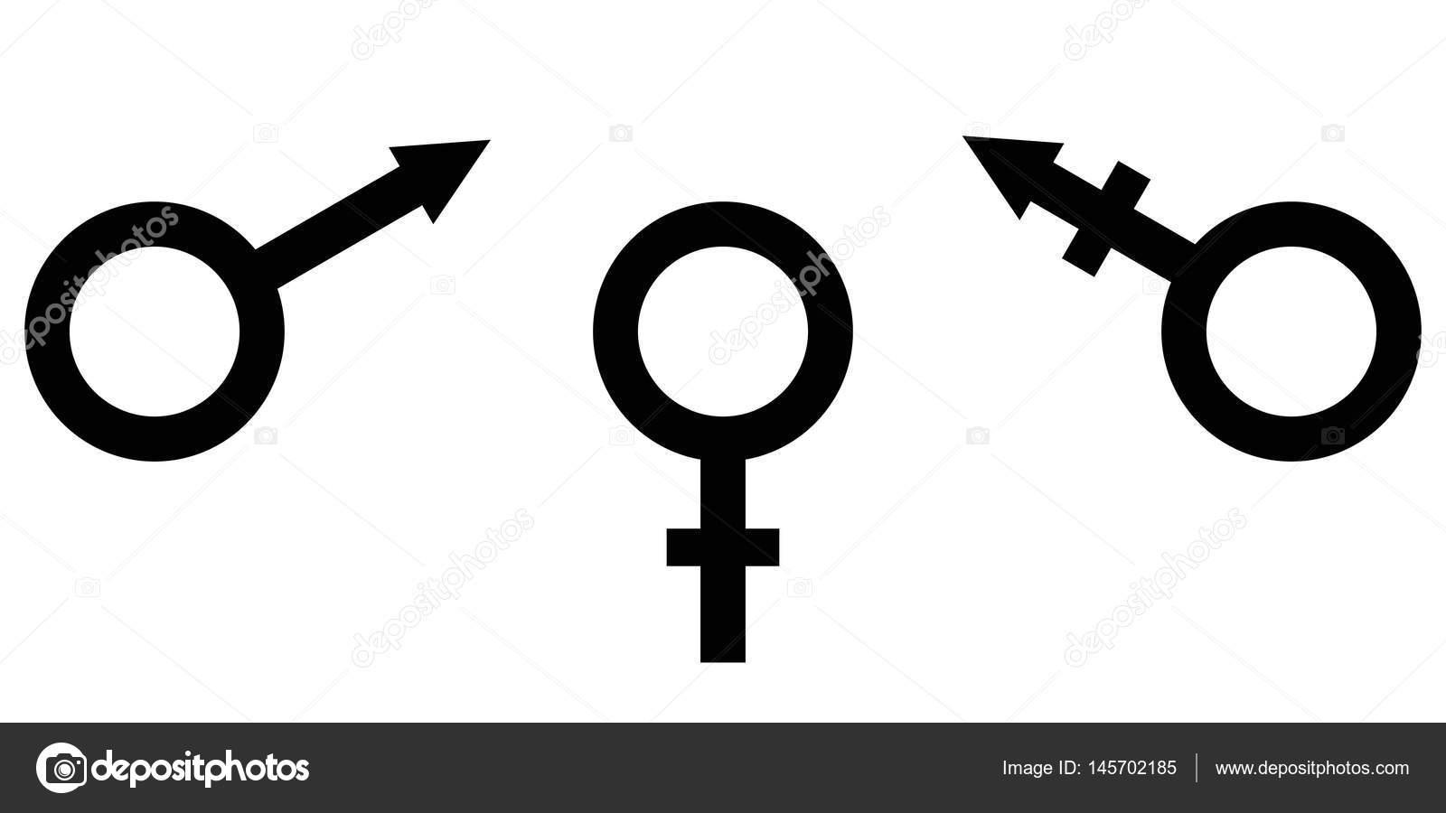 Símbolo Del Signo De Igualdad De Género Hombre, Mujer Y