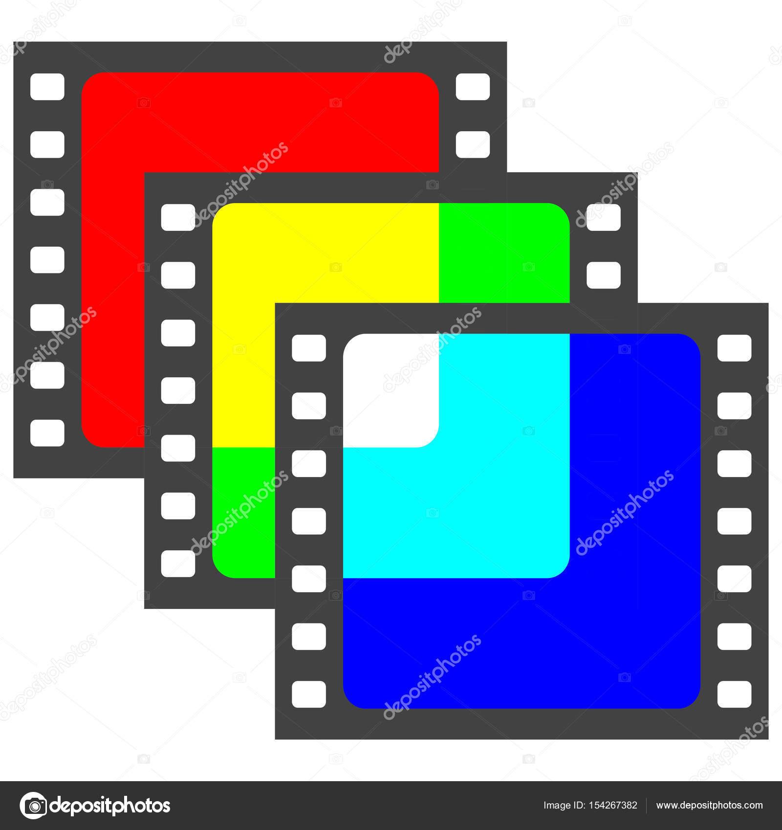 Filme filme quadro slide sobreposição de cores Rgb — Vetores de