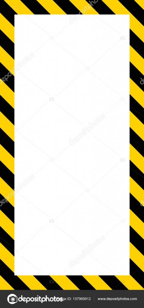 Marco de banner vertical, franjas diagonales de color amarillos y ...