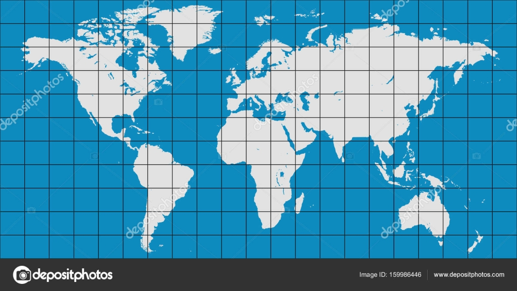 World map with coordinate grid and meridian and parallel map of world map with coordinate grid and meridian and parallel map of planet earth stock gumiabroncs Images