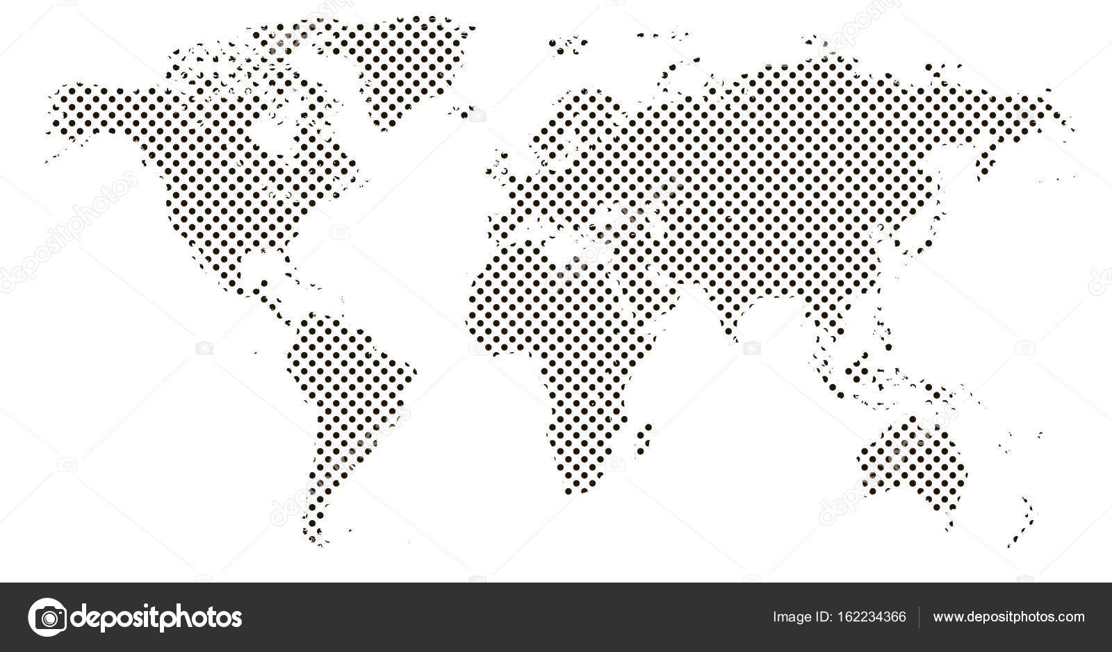Pixel map of world dotted world map halftone horizontal banner pixel map of world dotted world map halftone horizontal banner stock vector gumiabroncs Images