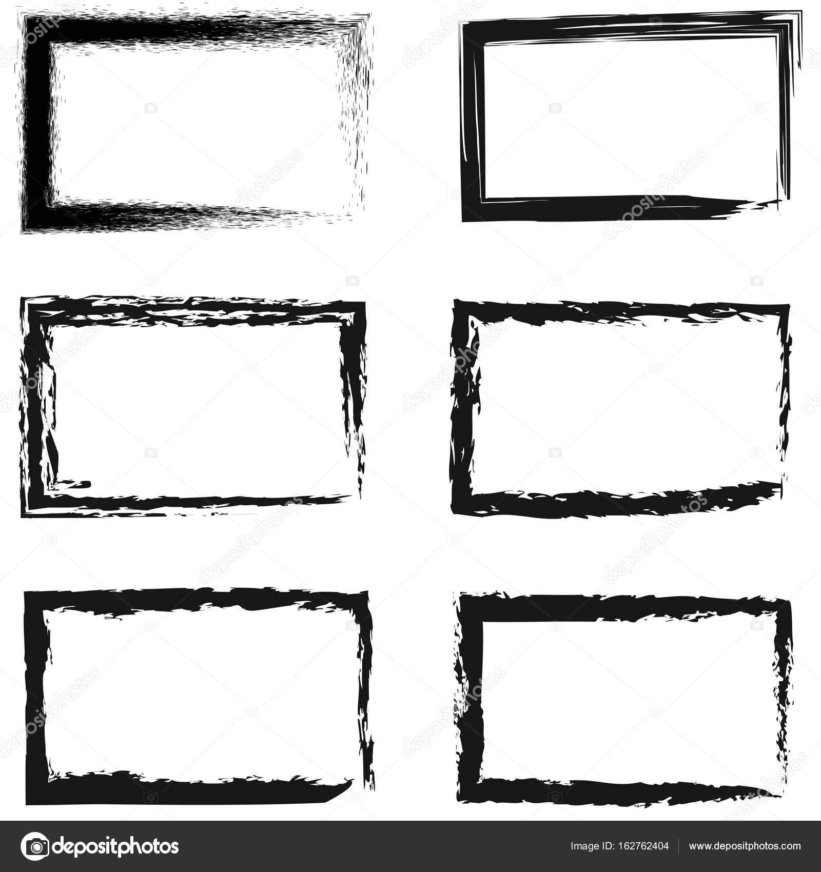 Conjunto de Marcos abstractos para fotos o cuadros — Archivo ...