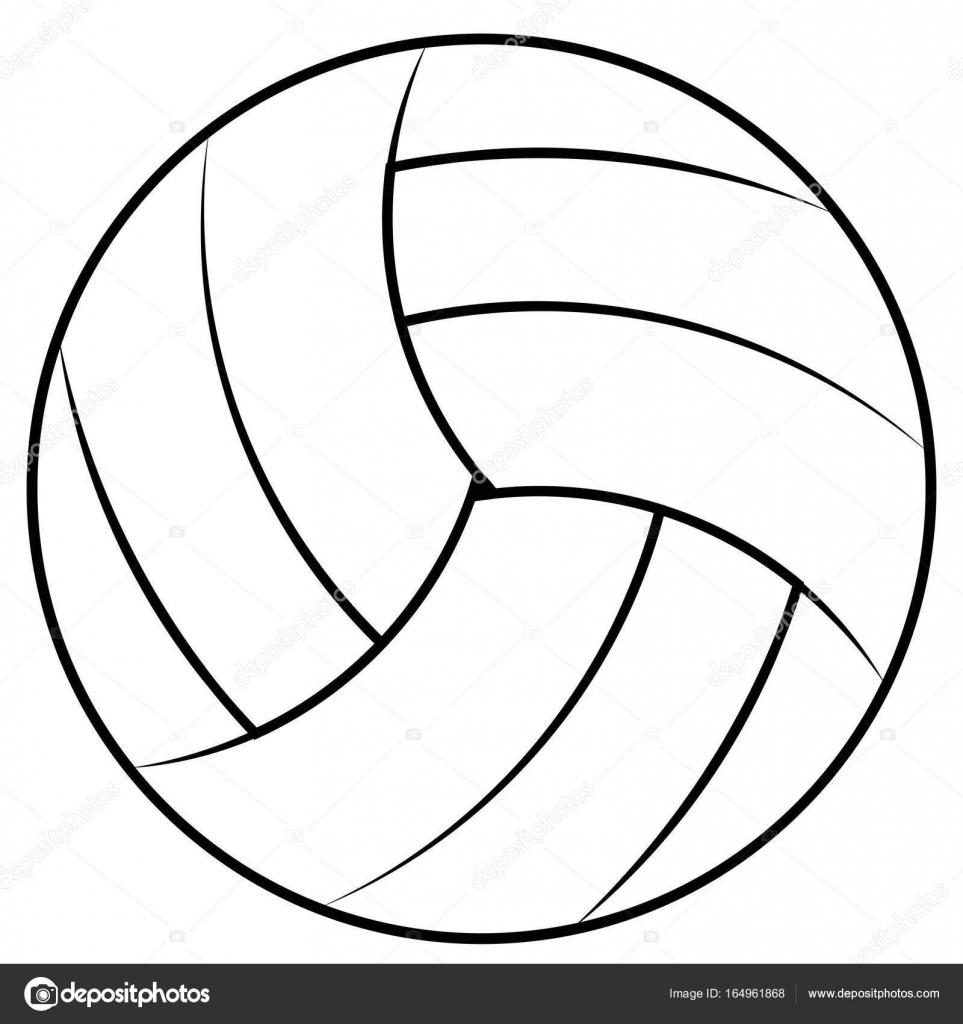 Coloriage Ballon De Volley.Ballon Pour Jouer Au Beach Volley Volley Ball De Vecteur