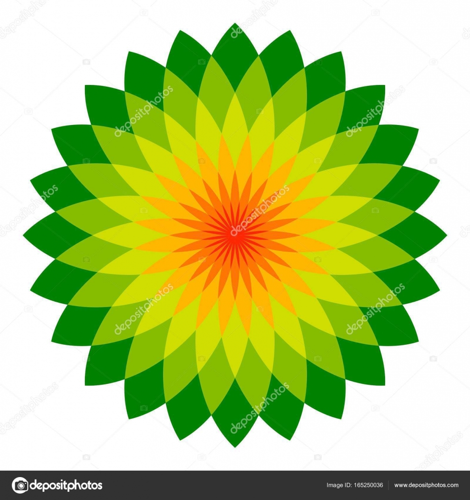 Abstract Flower A Lot Of Leafs A Logo Vector Ecologically Clean