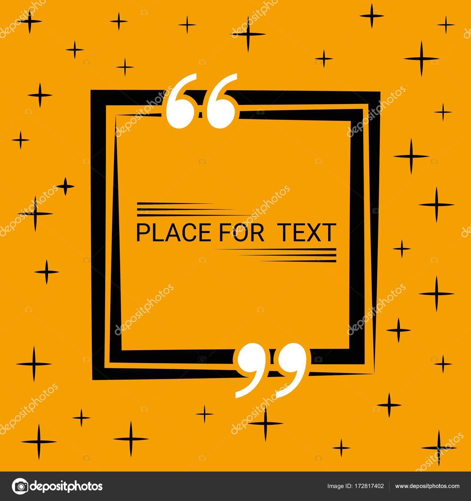 Box-Konzept des Dialogs in das leere Quadrat Zitat Text Sprechblase ...