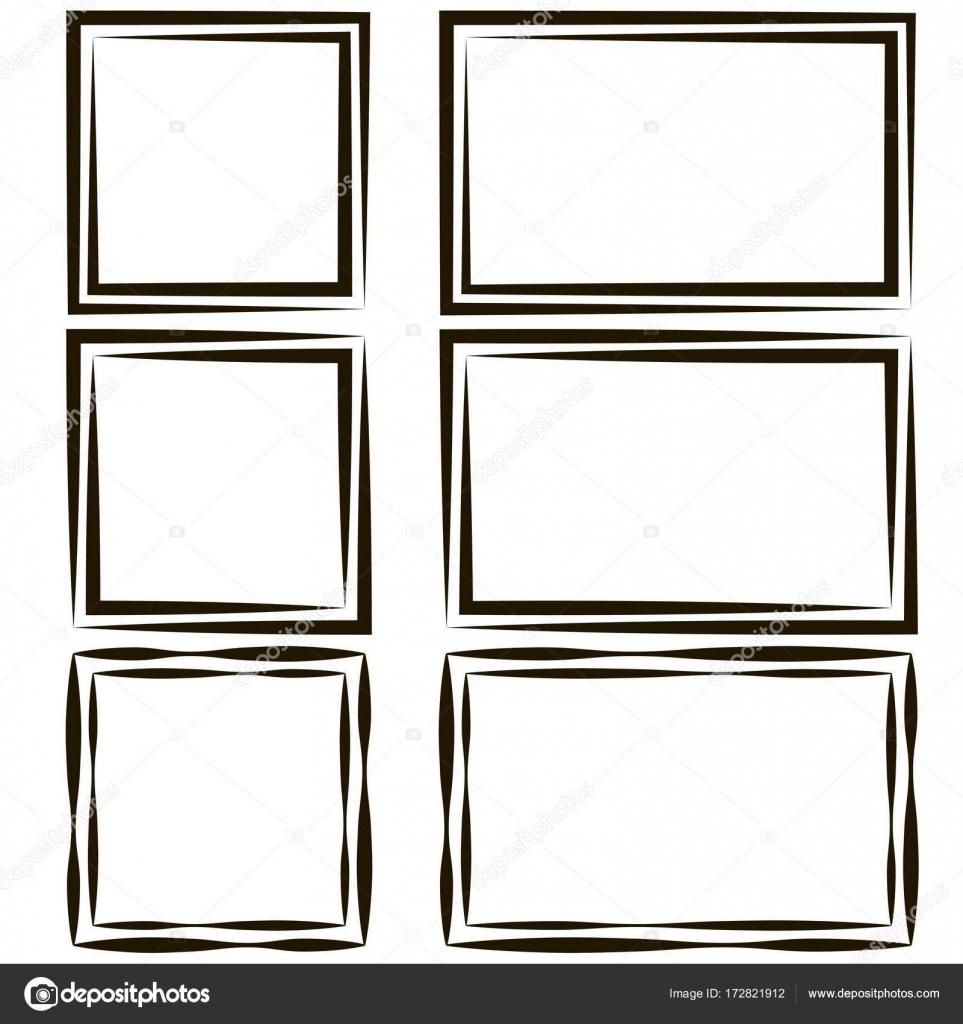 conjunto de marcos para fotos imagen, vector vacío discurso burbuja ...