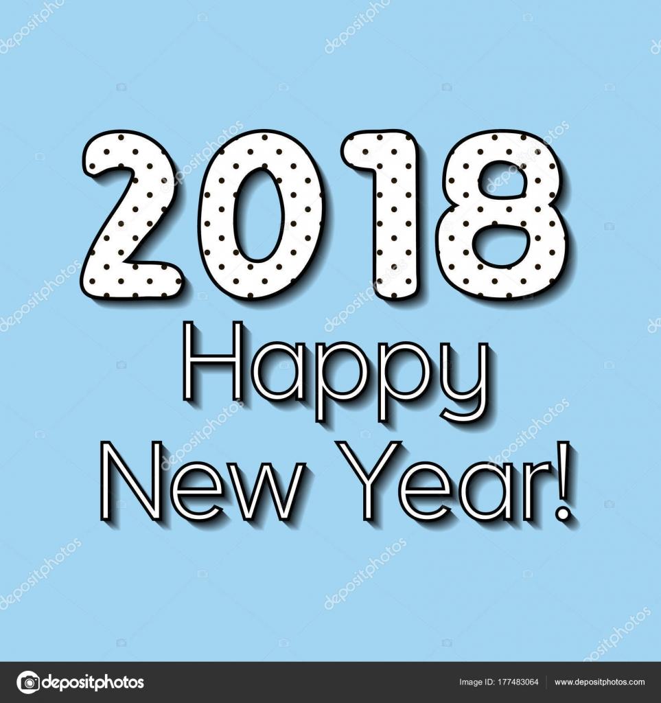 einfachen Gruß Eva Nye, Neujahr 2018 den Vektortext der Satz das ...