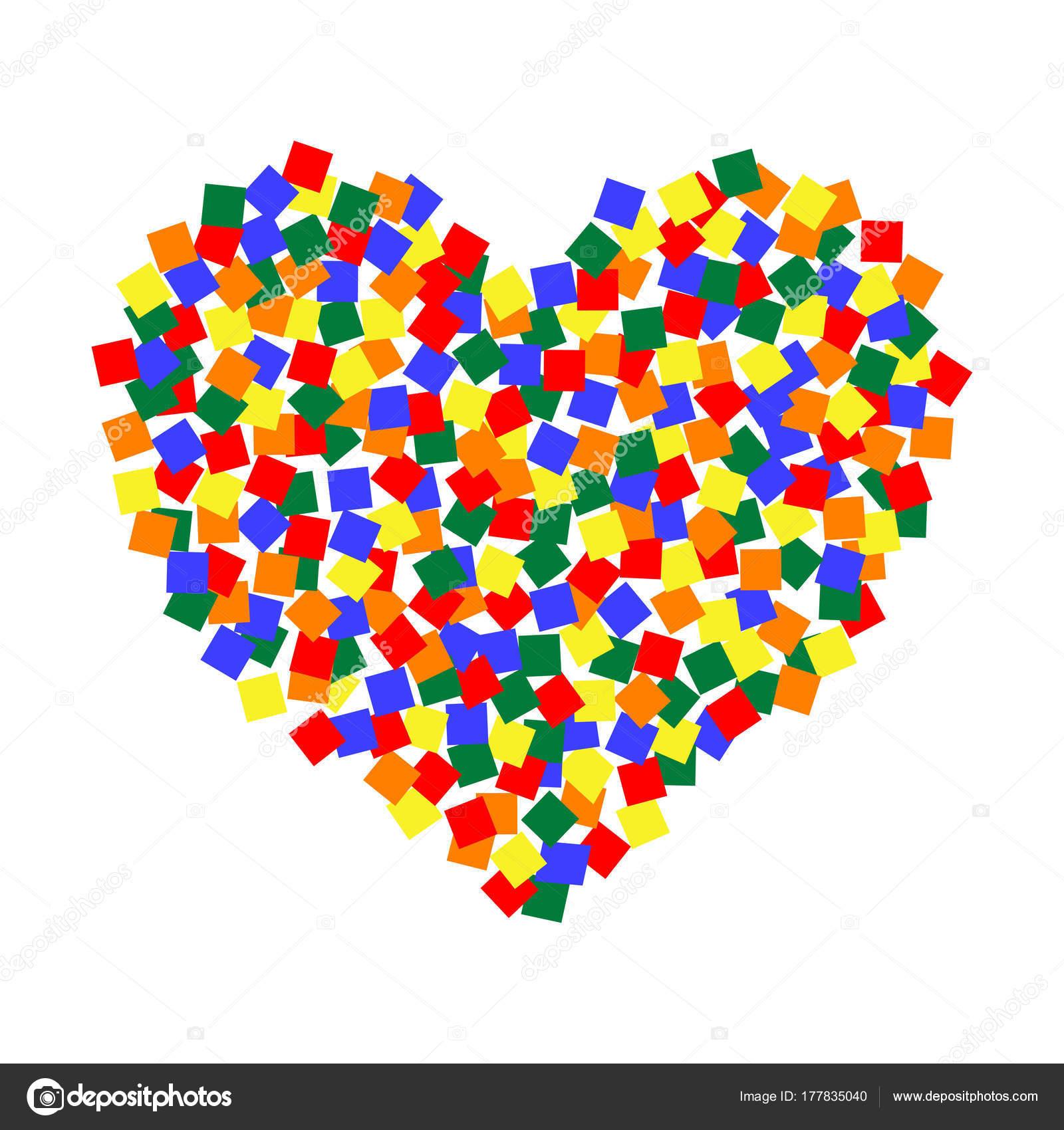Coeur Art En Pixel Couleur Lgbt Vector Lgbt Communauté