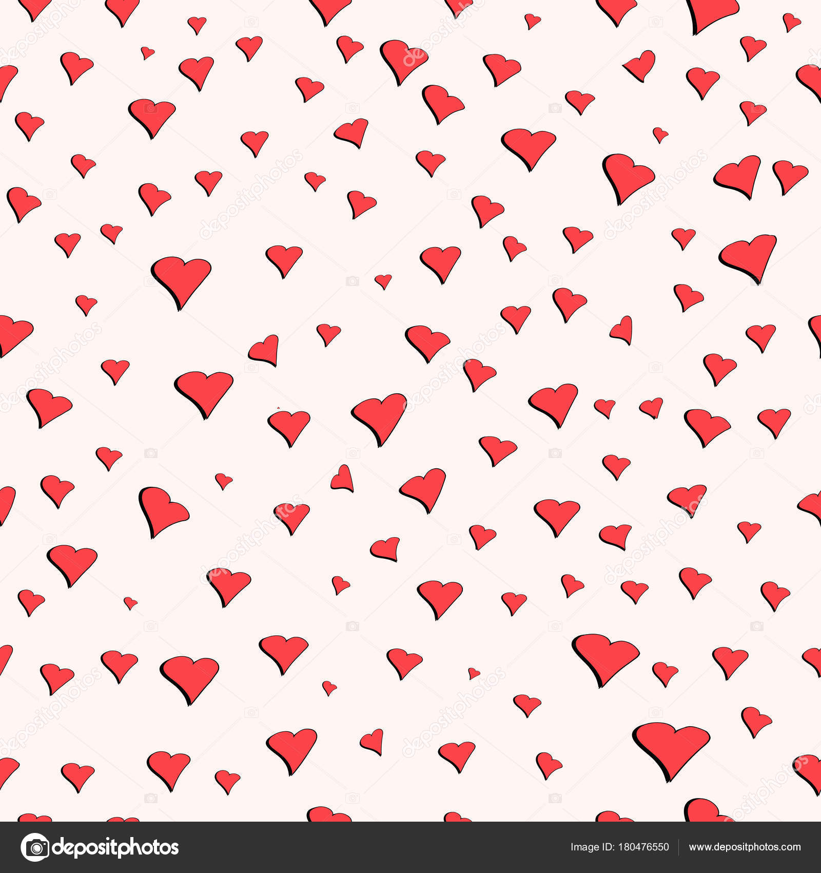 Seamless Pattern For Valentine S Day Cute Hearts Vector Seamless