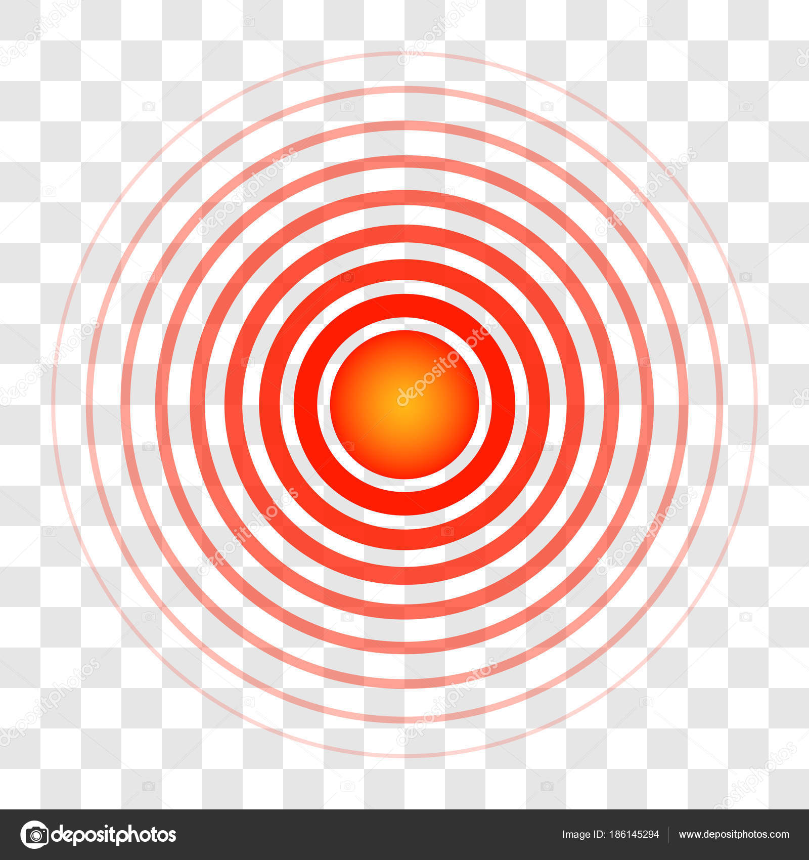 Ring circles target color of blood the sign of a symbol of pain ring circles the target color of blood the sign of a symbol of pain translucent rings vector pointing to the source of pain ailments medical sign of the buycottarizona Image collections