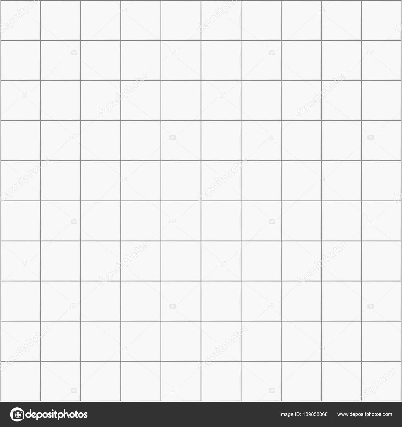 Witpatroon vierkant keramische naadloze achtergrond, vector tegel ...
