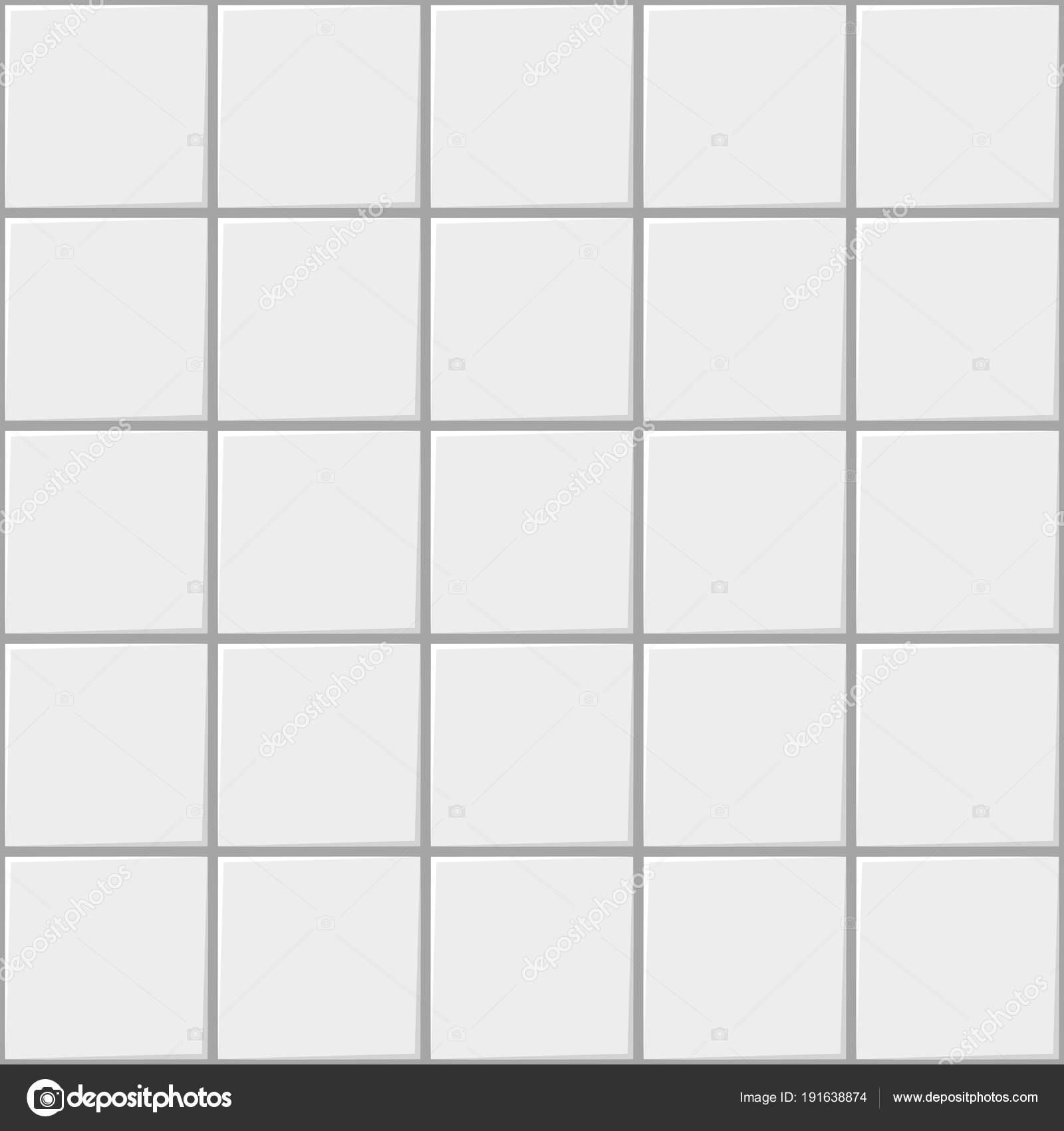 Witte vierkante keramische naadloze patroon achtergrond, vector ...