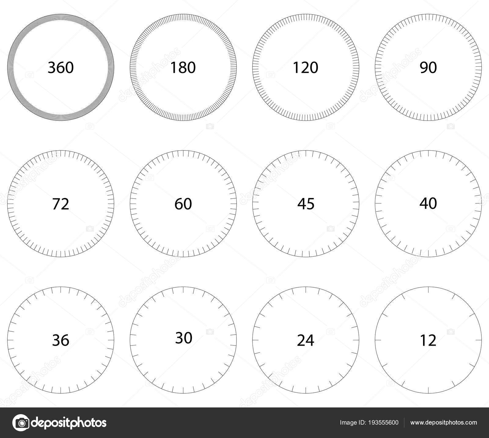 Festgelegten Kreis Zifferblatt, skaliert Kreis-Skala mit ...