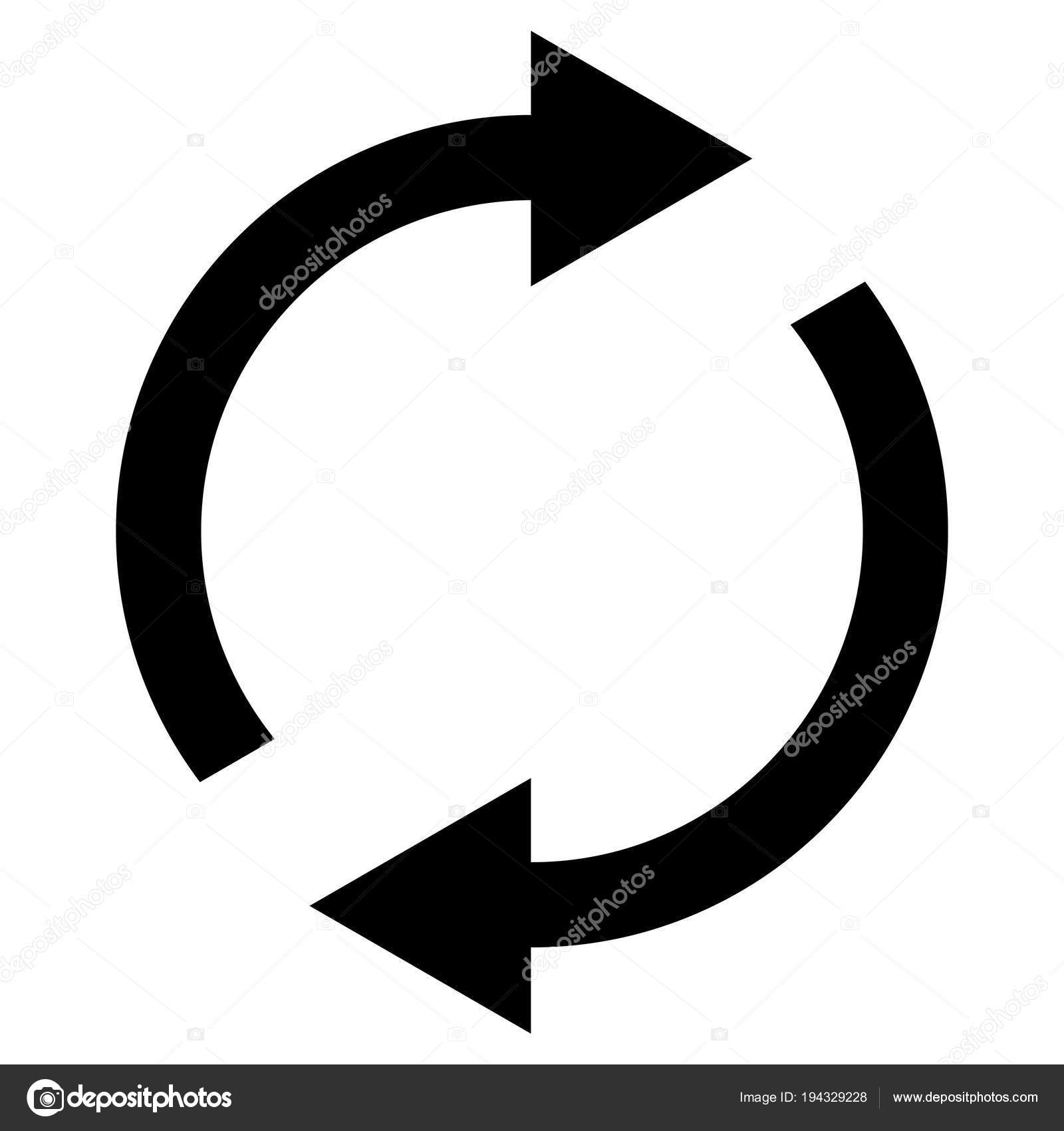 Icon Swap Resumes Spinning Arrows In Circle Vector Symbol Sync