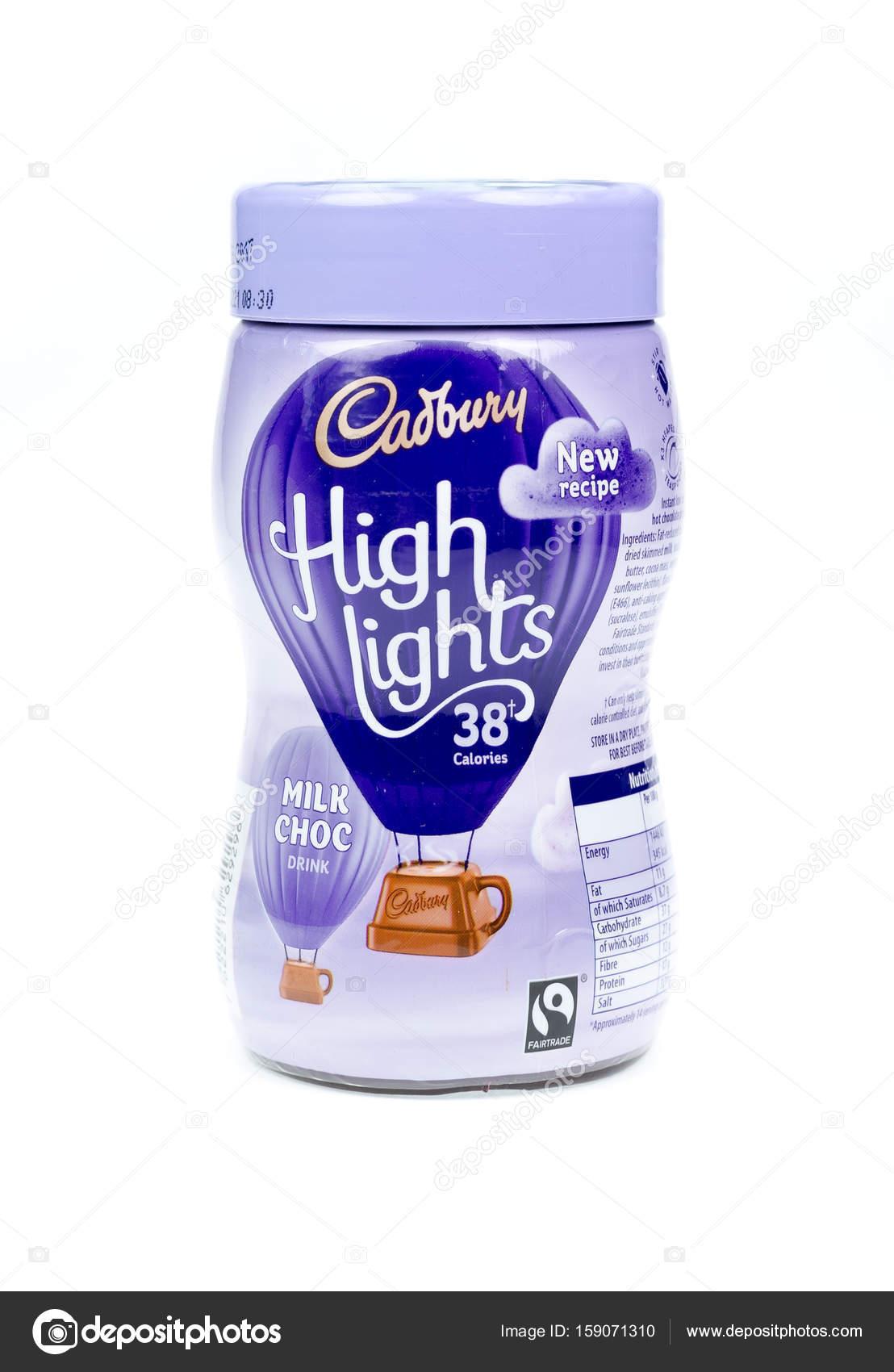 Cadburys Highlights Milk Choc Chocolate Drink White