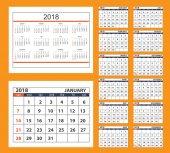 Pracovní kalendář na zeď nebo stůl rok 2018