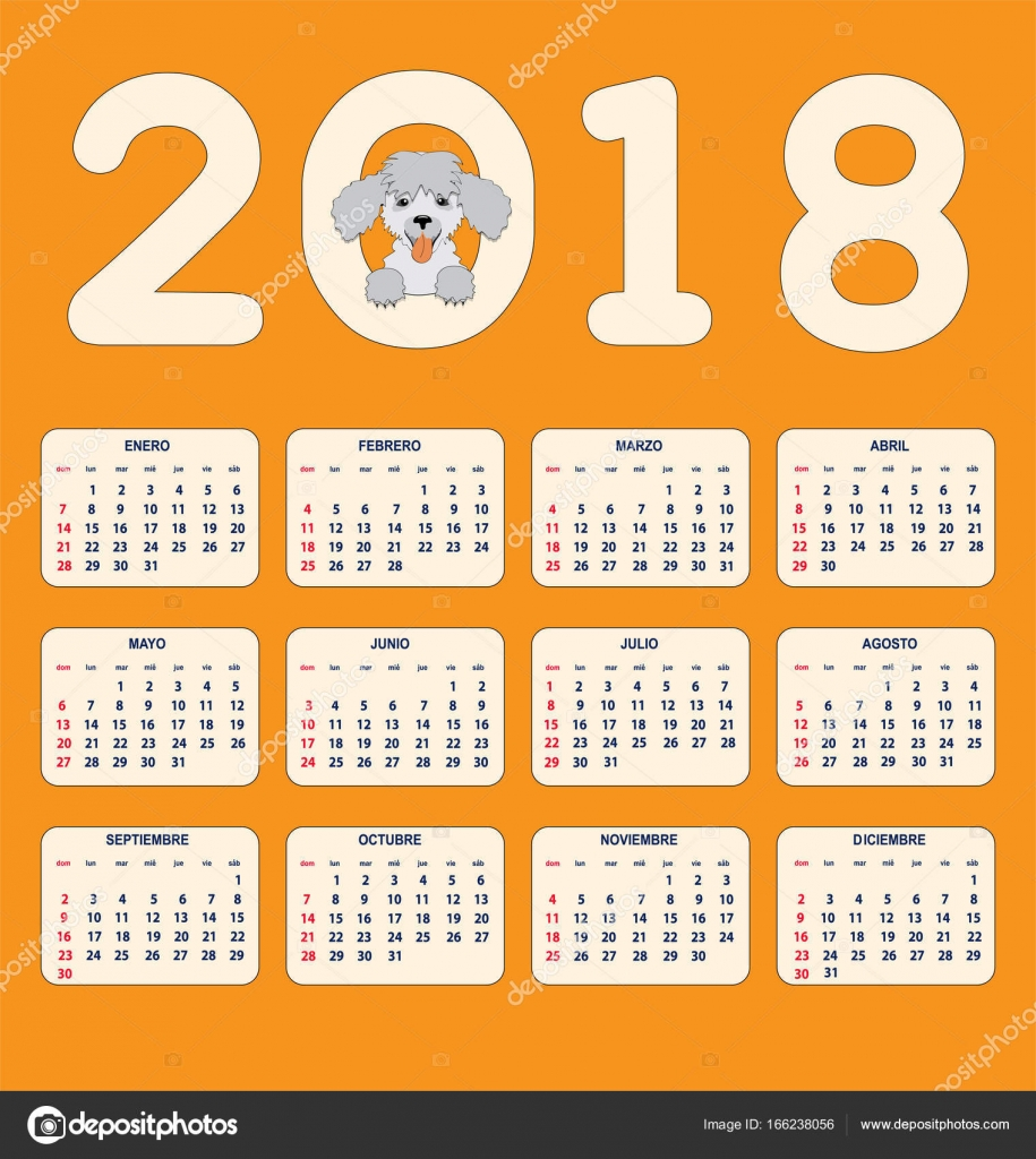 espa ol infantil calendario para pared o escritorio a o