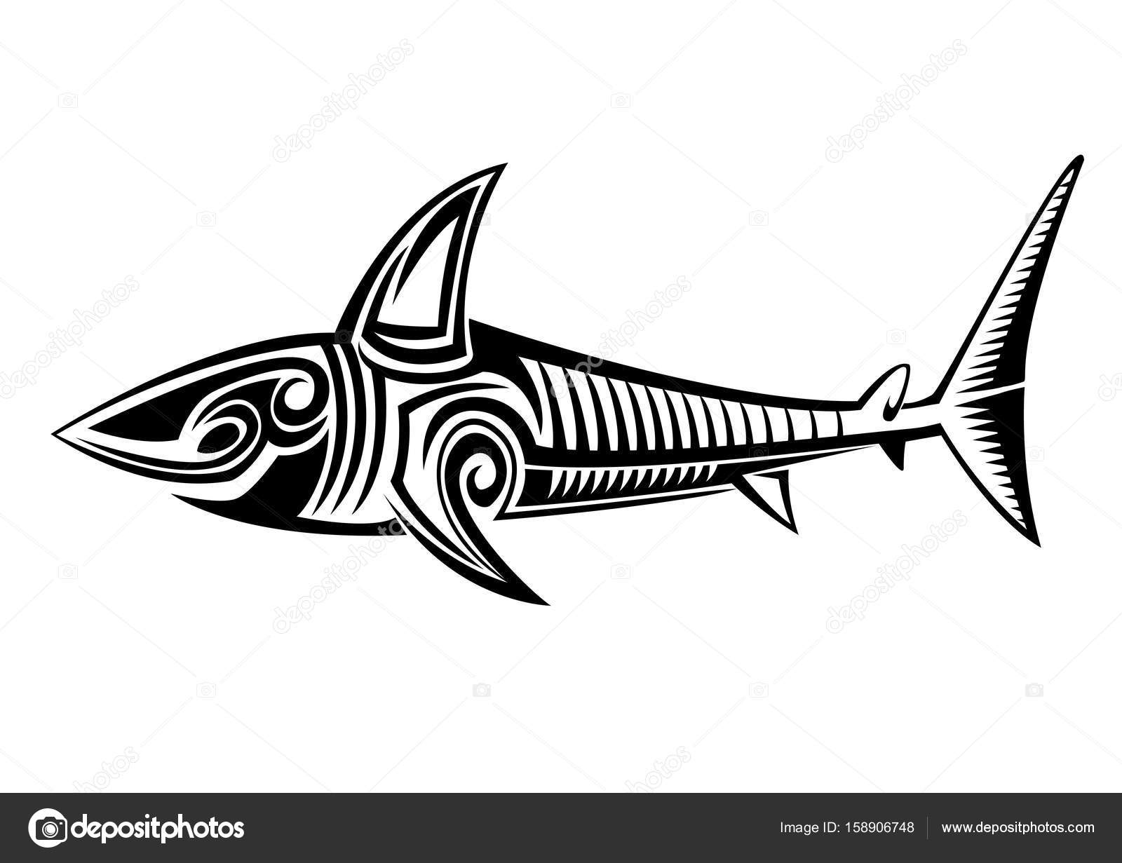 0afe4efe0 Tribal Shark Graphic Tattoo — Stock Photo © doddy77 #158906748