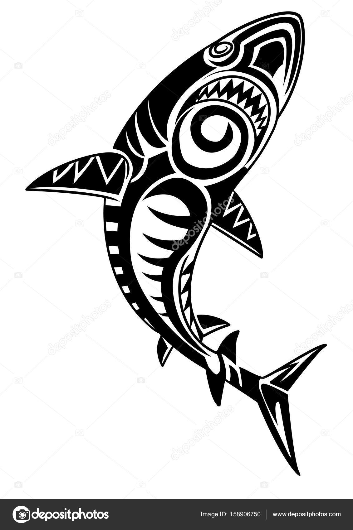 1f47c44f1 Tribal Shark Graphic Tattoo — Stock Photo © doddy77 #158906750