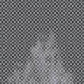 Mlha, mrak, kouř izolované transparentní zvláštní efekt. Bílá vector pozadí oblačnost, mlhy či smogu. Vektorové ilustrace