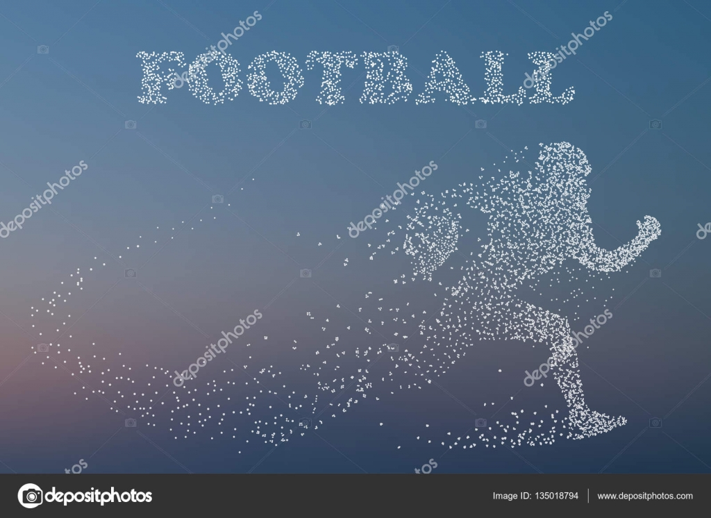 Silhouette Of A Football Player Rugby American Football