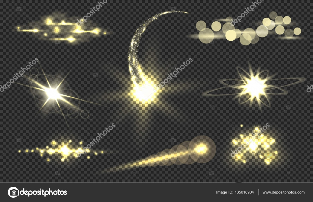 Gold glitter bright vector transparent background golden sparkles - Golden Glitter Bokeh Lights And Sparkles Shining Star Sun Particles And Sparks With Lens Flare Effect On Transparent Background Vector Illustration
